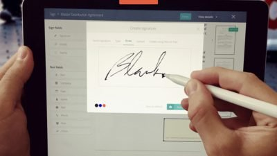 Signing on iPad