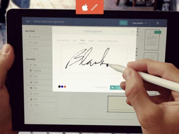 Signing on iPad