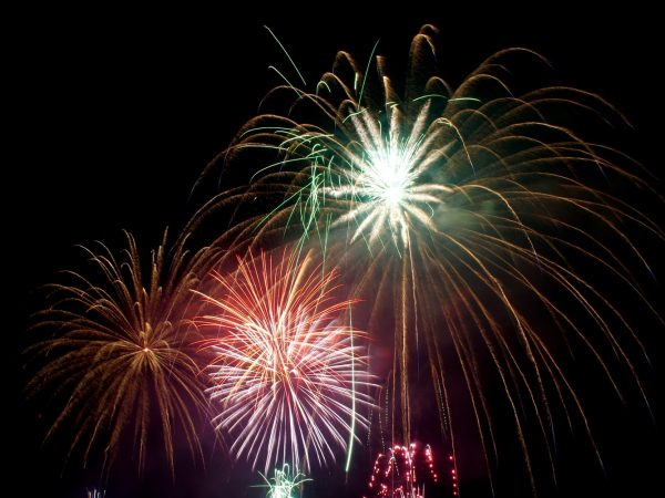 fireworks welcoming the new year